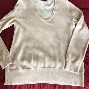 New York and Co. baby pink shimmer sweater.